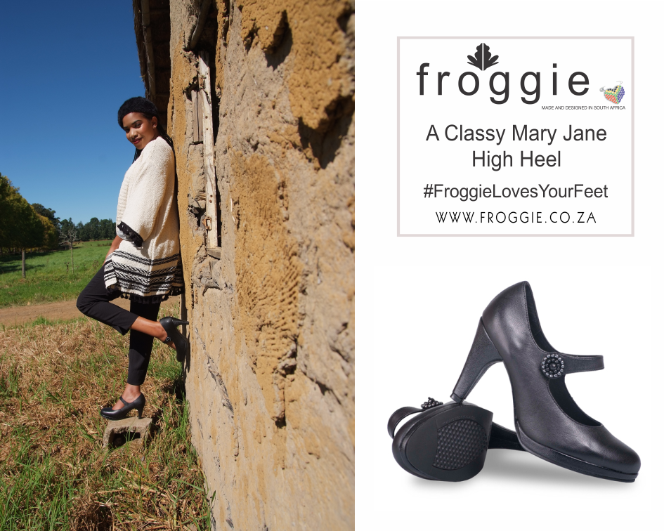 A Classic Pair of Froggie Mary Jane High Heels