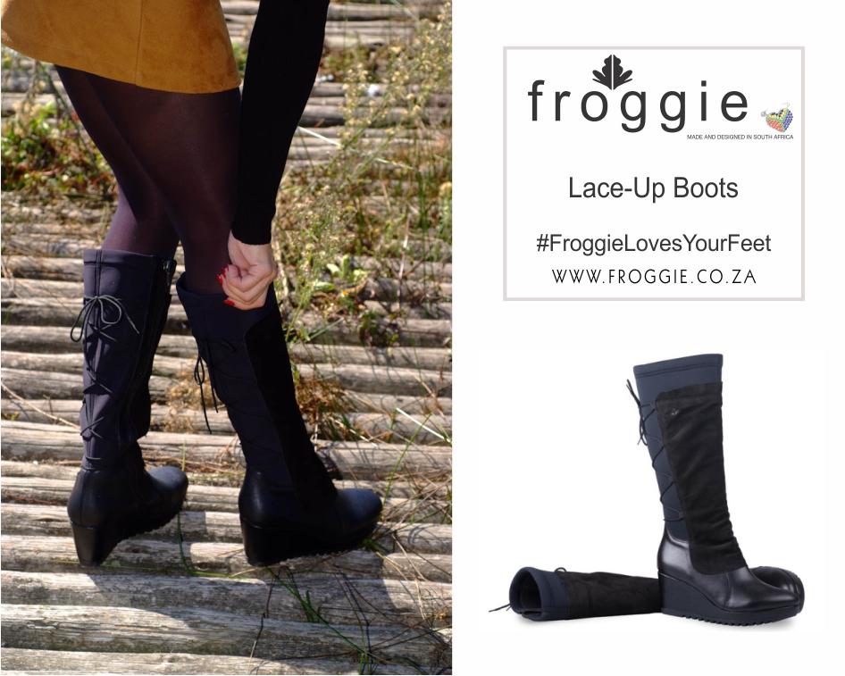 Ultra-Comfy Knee-High Boots with Lace-Up Detail From Froggie