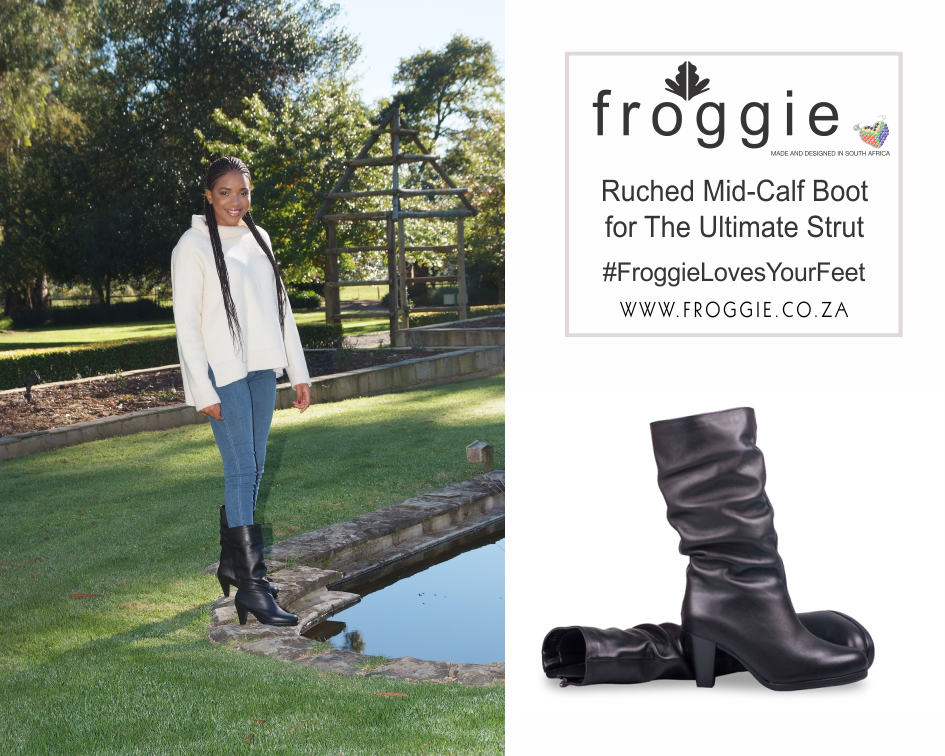 Super-Hot Ruched Mid-Calf Boot from Froggie