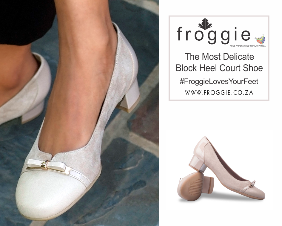 A Pretty Pair of Block Heel Court Shoes from Froggie