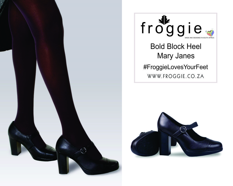 Be Bold with Froggie Block Heel Mary Jane Shoes