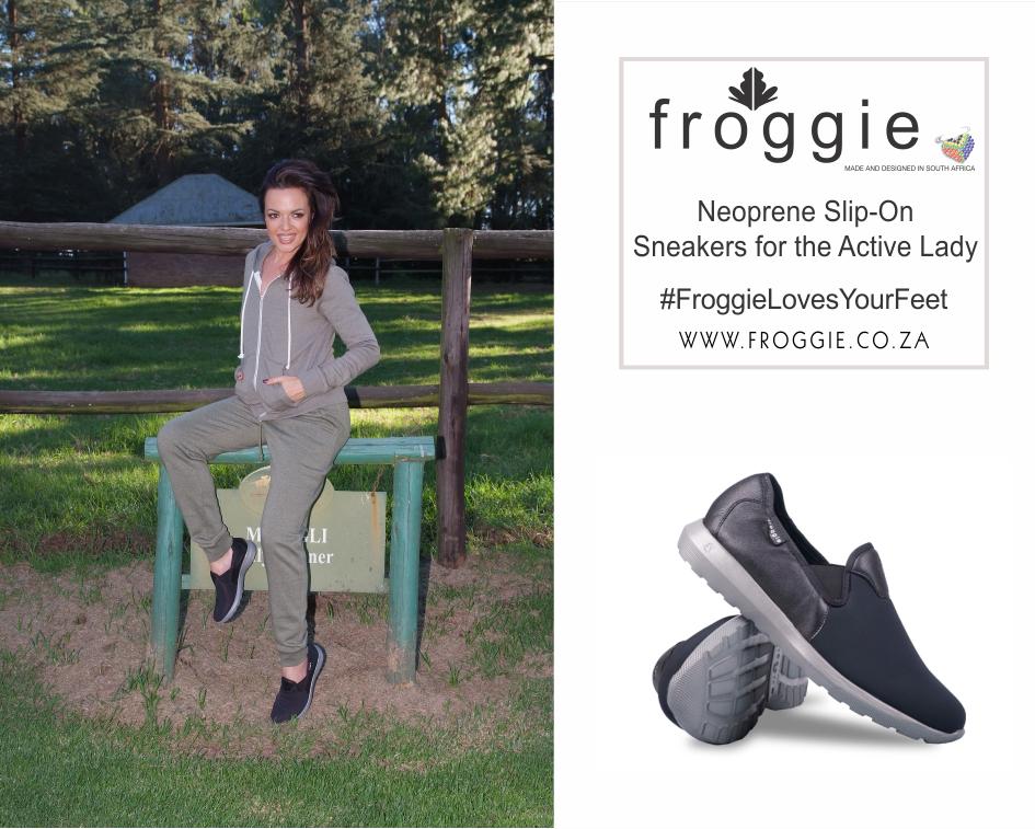 Get the Active Look with Froggie's Neoprene Slip-On Sneakers