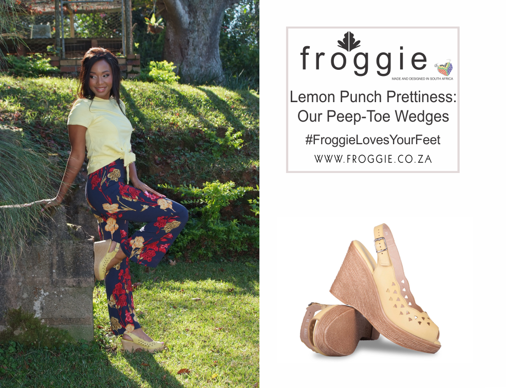 Wow the World in Froggie's Peep-Toe Wedges