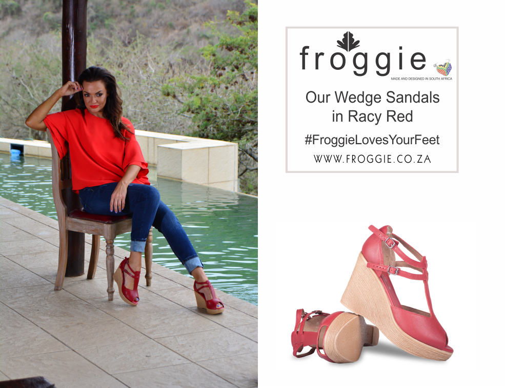 With Froggie, You Can Step Out in Style in Red Wedge Sandals