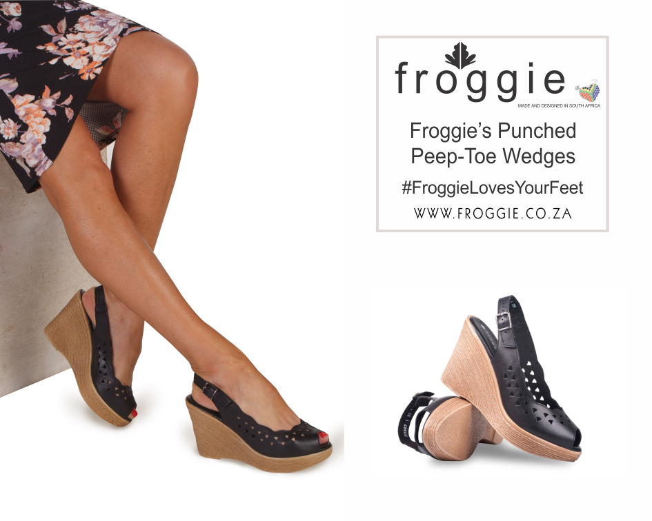 Take Spring by Storm with Froggie's Punched Peep-Toe Wedges