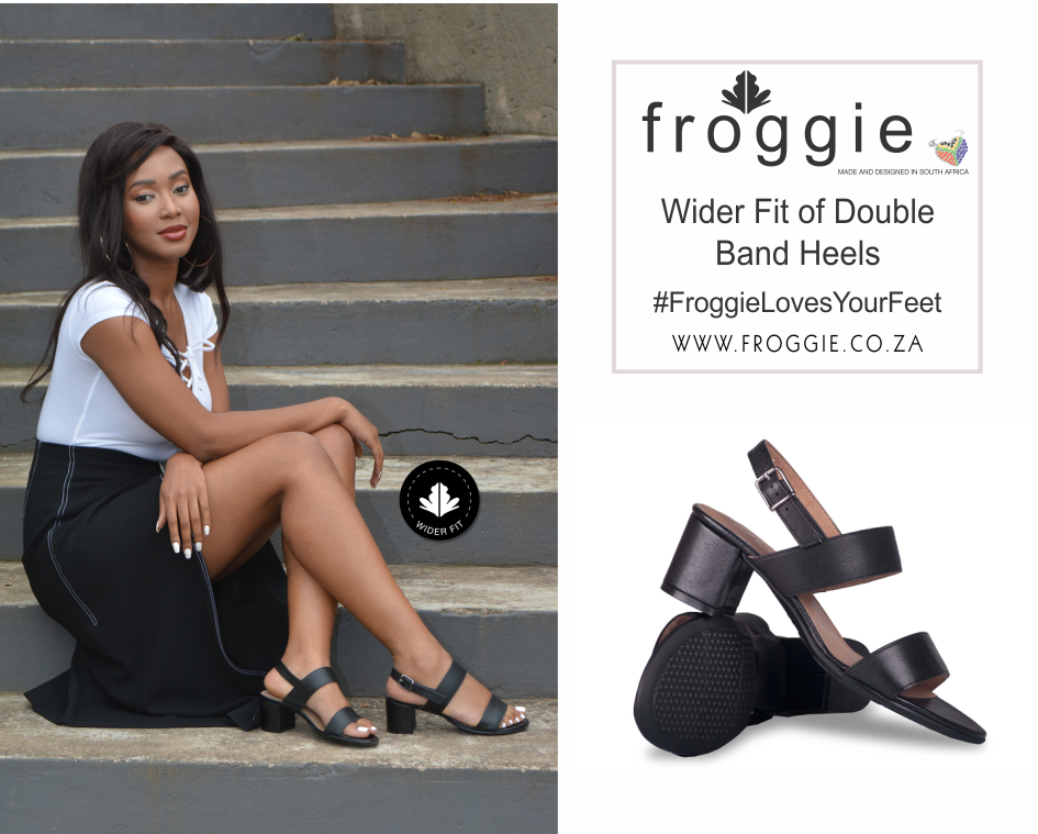 Step Out in Style in Froggie's Double Band Block Heels