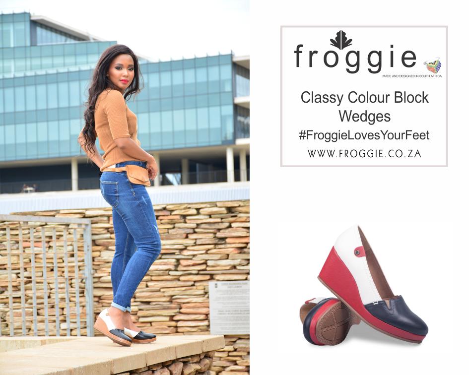 Woman Wearing Wedge Heels